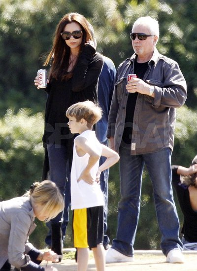Pregnant Victoria Beckham Pictures With Son Romeo in LA Previous Next