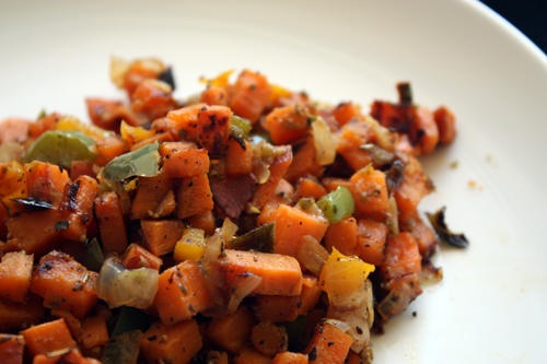 sweet corn hash ham and potato hash sweet potato hash share this link ...
